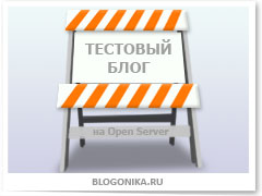 создаем первый тестовый блог на локальном сервере